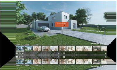Visite virtuelle maison temoin 360 3D