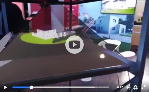 Creation borne holographique v2 holo3d buzz salon