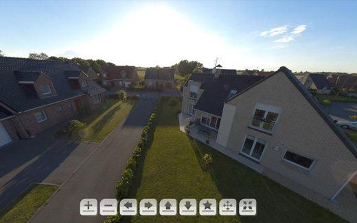 Panoramique 360 vue aerienne