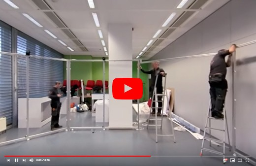 Realisation conception installation stand ministere belgique timelapse