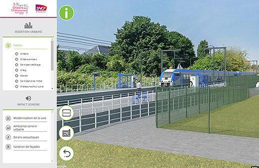 Realisation photo montages 3D outil immersif concertation sncf