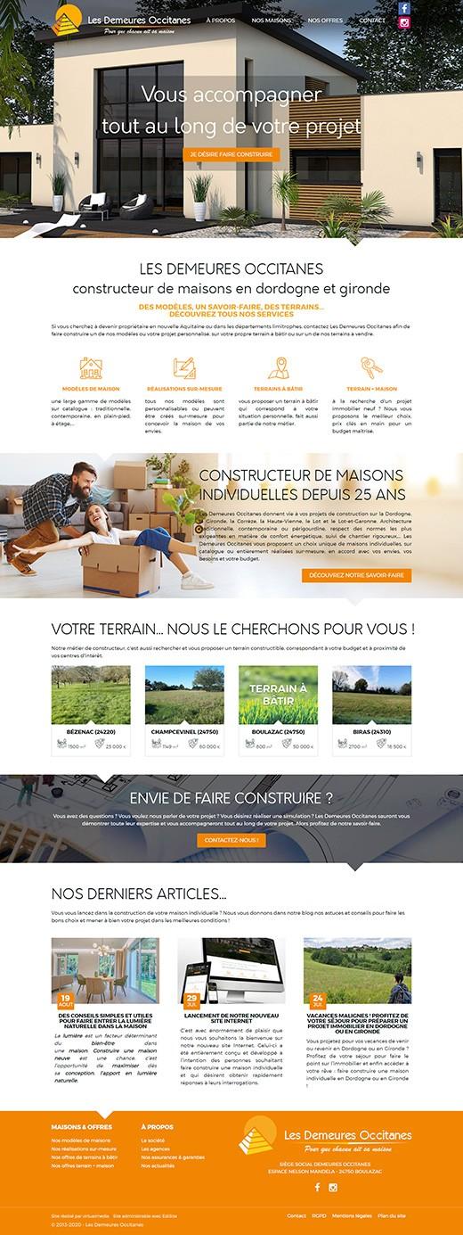 Realisation refonte site internet constructeur demeures occitanes
