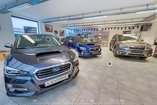 Realisation showroom visite virtuelle concessionnaire subaru