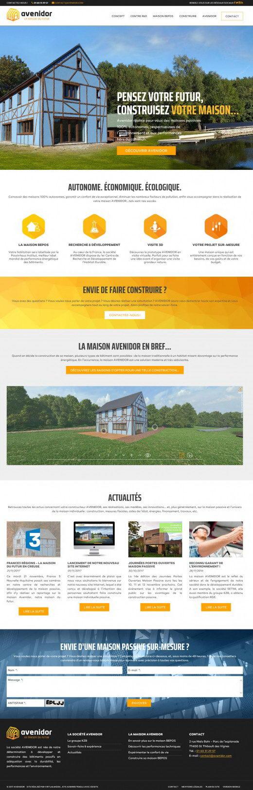 Realisation site constructeur maison avenidor