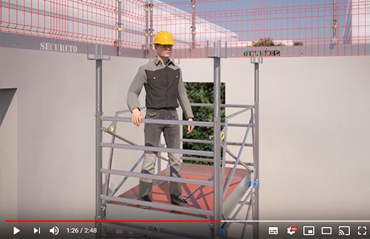 Realisation video notice 3D mise en oeuvre echaffaudage lvtec