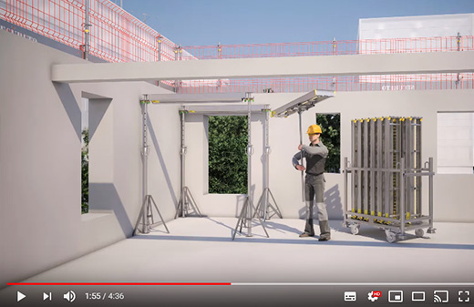 Realisation video notice 3D mise en oeuvre etaiement lvtec