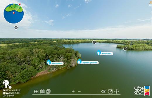 Realisation visite virtuelle 360 commentee reserve ecologique
