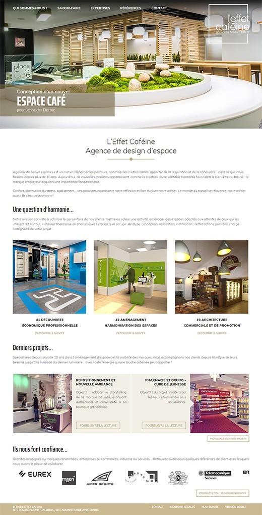 Refonte optimisation site internet effet cafeine