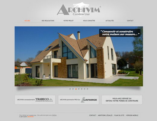 Cr ation d 39 un site internet pour le constructeur de maison for Site constructeur