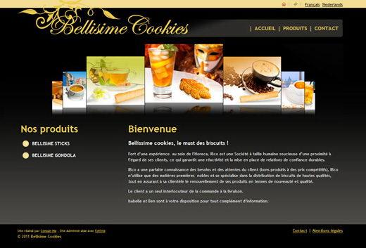 Site internet bellisime cookies