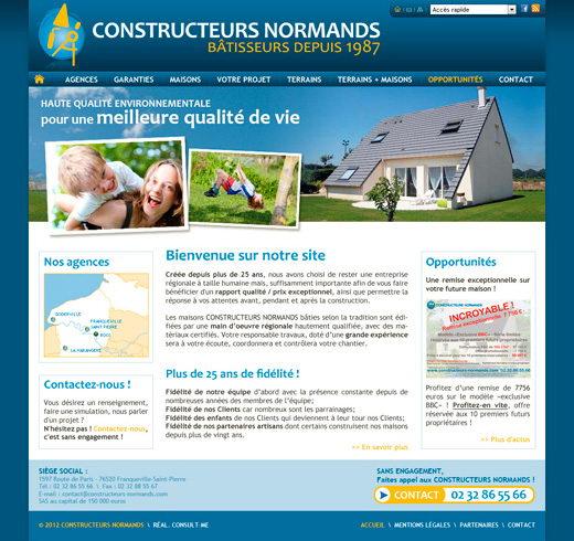 Cr ation d 39 un site internet pour le constructeur de maison for Site constructeur