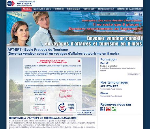 Site internet ecole aft aftral ept tourisme tremblay