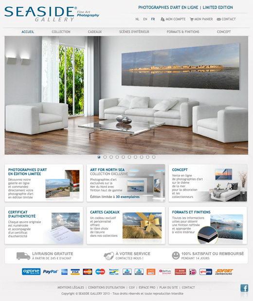 Site internet ecommerce seaside gallery