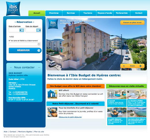 Site internet etap hotel ibis budget hyeres
