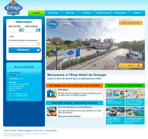 Site internet etap hotel ibis budget orange