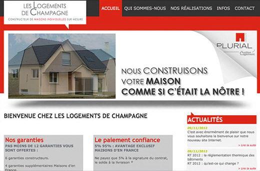 Site internet logements de champagne
