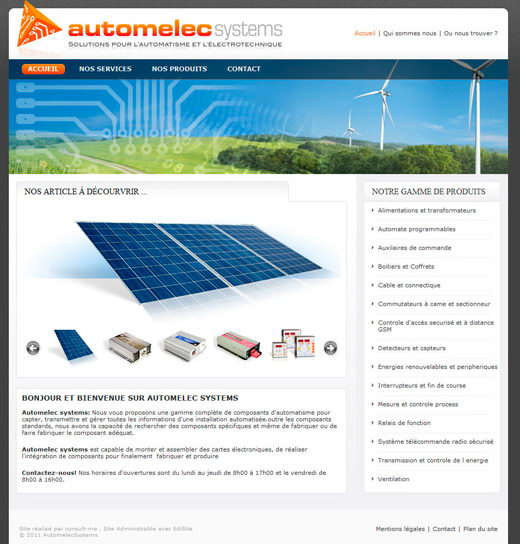 Site vitrine automelec systems