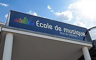 Realisation creation logotype signaletique ecole de musique comines vignette