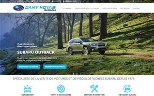 Realisation d un site internet vitrine services boutique pour subaru