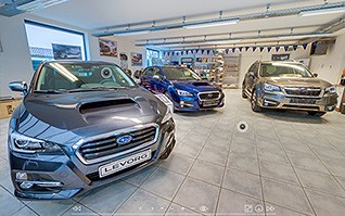 Realisation showroom visite virtuelle concessionnaire subaru