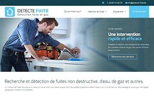 Realisation site internet artisan detecte fuite vignette