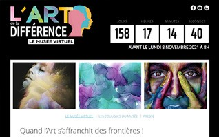 Realisation site internet teasing musee virtuel artdeladifference vignette