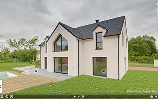 Realisation visite virtuelle 360 maison ile de france et paysage 3D