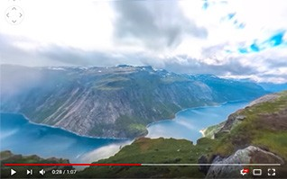 Timelapse video 360 degres scandinavie