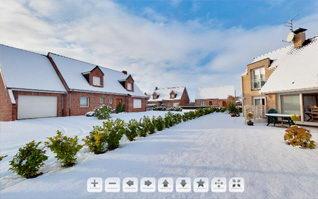 Panoramique 360 jardin enneige
