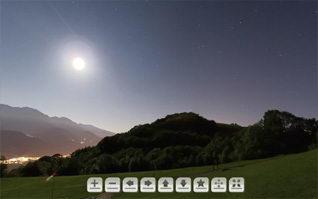 Vignette panoramique 360 nocturne