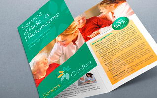 Print plaquette 3volets seniors confort