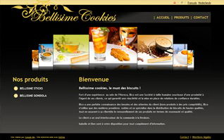 Site internet bellisime cookies