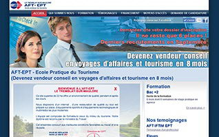 Site internet ecole aft aftral ept tourisme tremblay