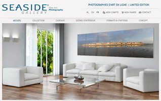 Site internet ecommerce seaside gallery