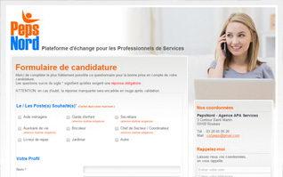 Site internet formulaire pepsnord