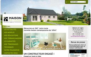 Site internet maison en ligne