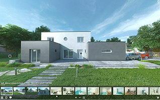 Visite virtuelle 3d maison en ligne