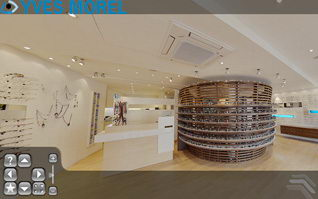 Visite virtuelle magasin opticien optique morel