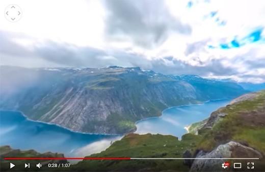 Timelapse video 360 degres scandinavie