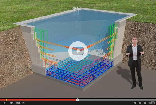 Video armatures piscine