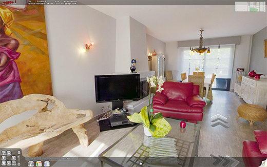 r alisation de la visite virtuelle d 39 une maison vendre. Black Bedroom Furniture Sets. Home Design Ideas